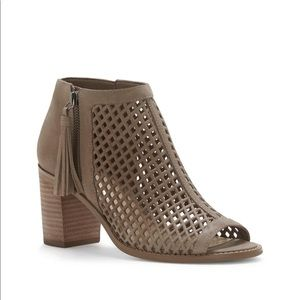 Vince Camuto Tresin Perforated Open-Toe Bootie